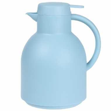 1x blauwe koffiekannen/koffiekannen 1 liter