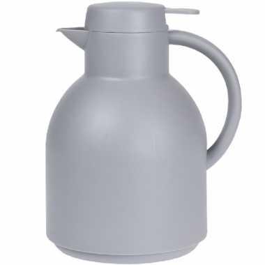 1x grijze koffiekannen/koffiekannen 1 liter