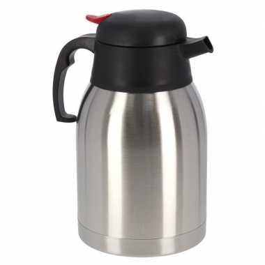 1x koffie/thee koffiekan rvs 1,2 liter
