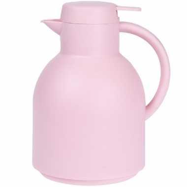 1x roze koffiekannen/koffiekannen 1 liter