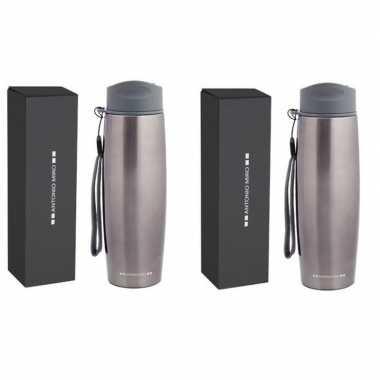 2x luxe rvs koffiekansen/koffiekannen 500 ml antonio miro
