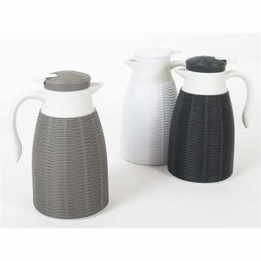2x zwarte koffiekan/koffiekan 1 liter