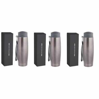 3x luxe rvs koffiekansen/koffiekannen 500 ml antonio miro