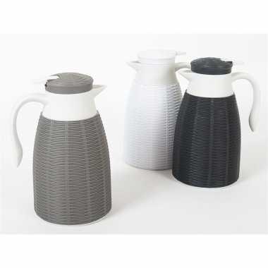 8x zwarte koffiekan/koffiekan 1 liter