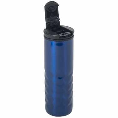 Blauwe rvs koffiekan / koffiekan 400 ml