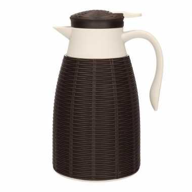 Bruine koffiekan/koffiekan 1 liter