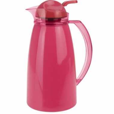 Koffiekan 1 liter donkerroze