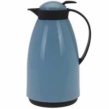Koffiekan/koffiekan 1 liter blauw