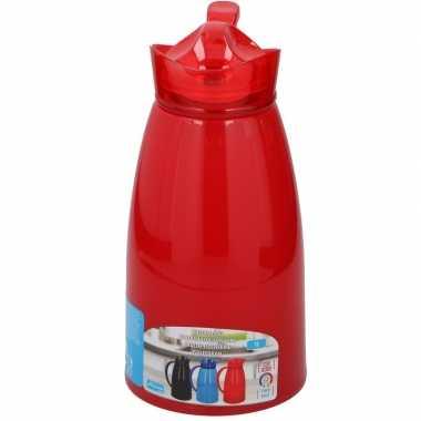 Koffiekan/koffiekan 1 liter rood