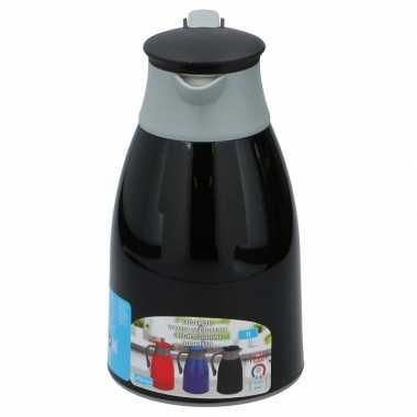Koffiekan/koffiekan 1 liter zwart/grijs