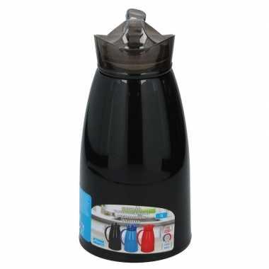 Koffiekan/koffiekan 1 liter zwart