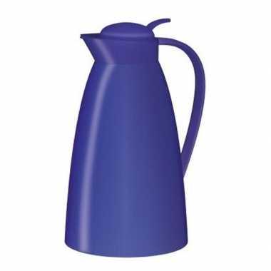 Koffiekan/koffiekan kobalt blauw 1 liter