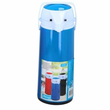 Koffiekan/koffiekan met dispenser 1.9 liter blauw