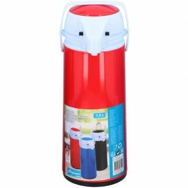 Koffiekan/koffiekan met dispenser 1.9 liter rood