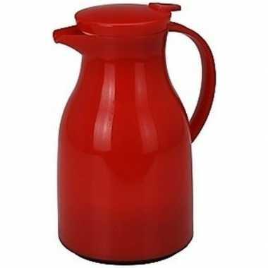 Koffiekan/koffiekan rood 1 liter
