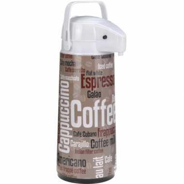 Koffiekan met dispenser bruin wit