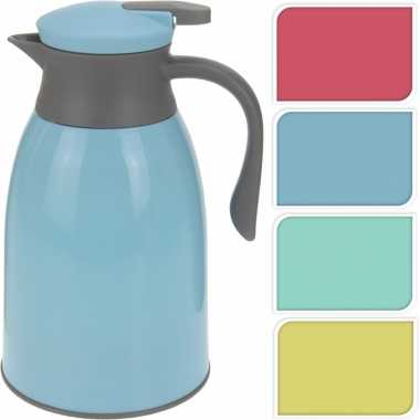 Koffiekan rood/grijs 1 liter