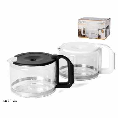 Koffiepot met zwarte deksel en handvat 1,4 liter