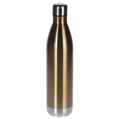Rvs koffiekan/koffiekan 1 liter goud