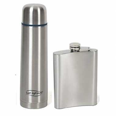 Rvs koffiekan / koffiekan 1 liter met zakkanje/drankflacon