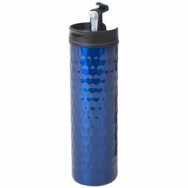 Rvs koffiekan / koffiekan blauw 400 ml