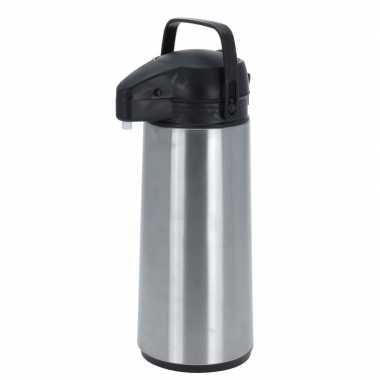 Rvs koffiekan/koffiekan met pomp 1.8 liter