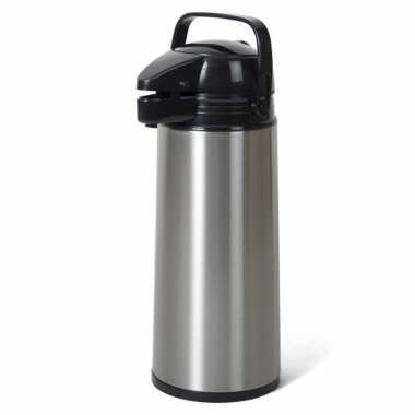 Rvs koffiekan/koffiekan met pomp 1.9 liter