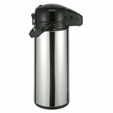 Rvs koffiekan / koffiekan met pomp 1,9 liter
