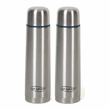 Set van 2x stuks rvs koffiekan / koffiekan 1 liter