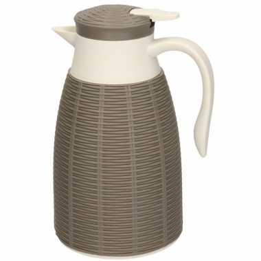 Taupe koffiekan/koffiekan 1 liter