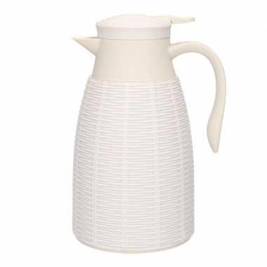 Witte koffiekan/koffiekan 1 liter